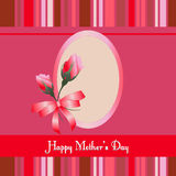 Happy Mothers Day.roses with red background Stock Photos