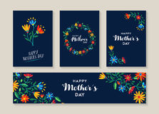Free Happy Mothers Day Set Of Flower Labels And Cards Stock Photos - 70245533