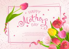 Greeting cards Mothers Day stock photography