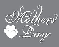 Happy Mothers day Text Background Stock Photography
