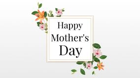 Happy Mothers day text in frame