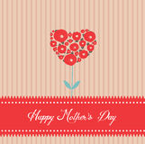 Happy mothers day tree heart greeting card Stock Photos