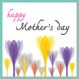 Happy mothers day with tulip Stock Photos