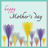 Happy mothers day with tulip and dot pattern Royalty Free Stock Photo