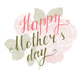 Happy Mothers Day type Royalty Free Stock Photography