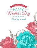 Happy Mothers Day Typographical Background. Stock Image