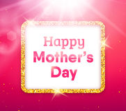 Happy Mothers Day typography greeting card Stock Image