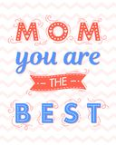 Happy Mothers Day typography royalty free illustration