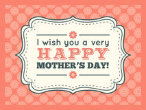 Happy Mothers day. Typography letter font type Royalty Free Stock Images