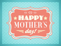 Happy Mothers day. Typography letters font type Royalty Free Stock Photos