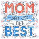 Happy Mothers Day typography vector illustration