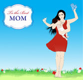 Happy mothers day vector banner Stock Photography