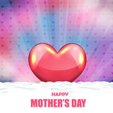 Happy Mothers Day Vector Design. Vector drawing heart abstract design Stock Photo