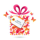 Happy Mothers Day vector greating card template. Royalty Free Stock Image