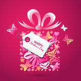 Happy Mothers Day vector greating card template. Royalty Free Stock Images