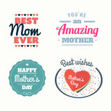 Happy mothers day vectors Royalty Free Stock Photo