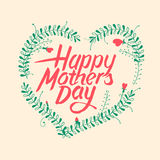Happy mothers day, vintage typographical card Royalty Free Stock Photos