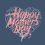 Happy mothers day, vintage typographical card Stock Photography