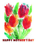 Happy Mothers Day Watercolor Background Stock Photography