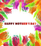 Happy Mothers Day Watercolor Background Stock Images