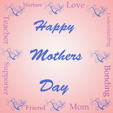 Happy mothers day word cloud Royalty Free Stock Photos