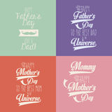 Happy mothers and fathers day Stock Photo