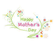 Happy Mothers's Day floral greeting card Royalty Free Stock Photos