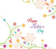 Happy Mothers's Day florals Background Royalty Free Stock Photos