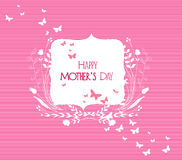 Happy Mothers's Day florals frame greeting card Royalty Free Stock Image
