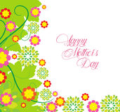 Happy Mothers's Day flowers Background Stock Photography