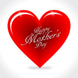 Happy Mothers's Day Heart. Happy Mothers's Day Illustration with Beautiful Heart Stock Image
