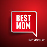 Happy Mothers's Day label Royalty Free Stock Photography