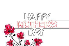 Happy Mothers's Day Typographical Background Stock Images