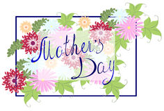 Happy Mothers Typographical Background With colorful Flowers. EPS10 vector illustration. Stock Image