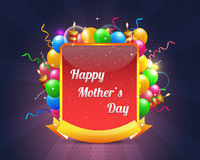 Happy Mothers Vector Design. Abstract celebrate vector colourful design Royalty Free Stock Photos