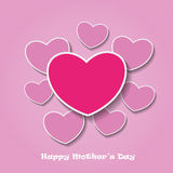 Happy Mothersday Oldpink Heartpapers Royalty Free Stock Photo