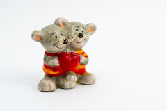 Happy mouces. Fun statuette of happy mouces Royalty Free Stock Photos