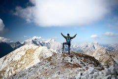 Happy mountain hiker Stock Photography