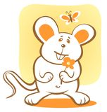 Happy mouse Stock Photography