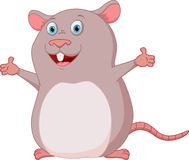 Happy mouse cartoon Royalty Free Stock Images