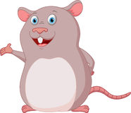 Happy Mouse cartoon presenting Stock Images