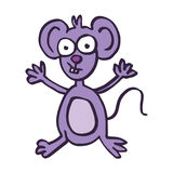Happy mouse cartoon vector art Royalty Free Stock Images