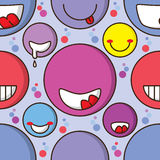 Happy mouth colorful seamless pattern. Illustration abstract happy mouth colorful seamless pattern happy smile laugh smiling cute cartoon circle texture Royalty Free Stock Photos