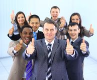 Happy multi-ethnic business team Royalty Free Stock Photo