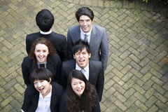 Happy multi ethnic business team Stock Photos