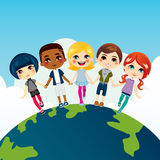 Happy Multi-ethnic Children Stock Image