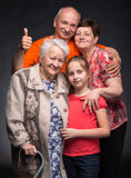 Happy multi-generation family Royalty Free Stock Images