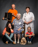 Happy multi-generation family Stock Photography