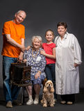 Happy multi-generation family Stock Images