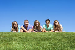 Happy, Multi-racial group of Young Adults royalty free stock photography